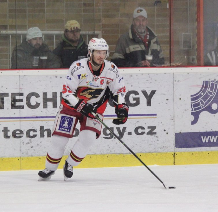 Prostějovští hokejisté se v sobotu na domácím ledě utkali s lídry první ligy kladenskými Rytíři.  Pavel Mojžíš