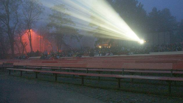 Letní kino v Mostkovicích. Ilustrační foto