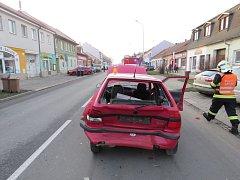 Nehoda v Plumlovské ulici v Prostějově
