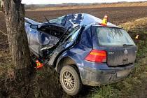Vážná nehoda řidičky volkswagenu mezi Stařechovicemi a Služínem