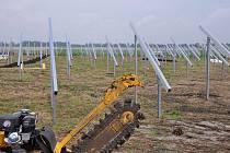 U Čehovic se buduje nová sluneční elektrárna