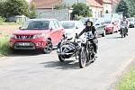 Přehlídka historických motorových vozidel v rámci soutěžní přehlídky Rallye na pohodu - z lázní do lázní. 18.8. 2019