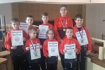Mladí zápasníci Čechovic