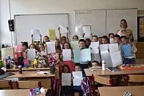 Poslední školní den na prostějovské ZŠ Železného. 30.6. 2021