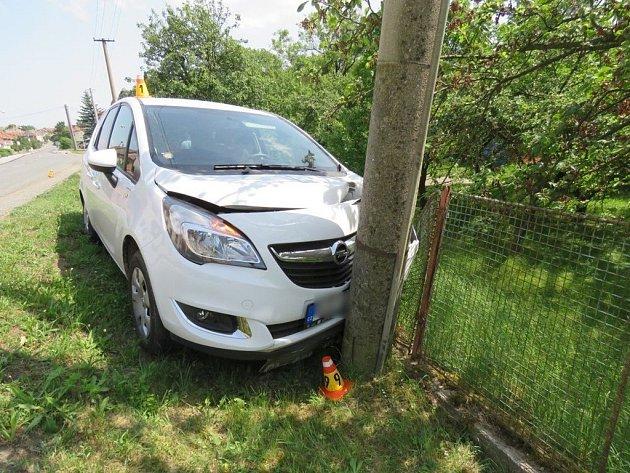 Nehoda Opelu vPřemyslovicích