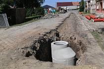 Výstavba kanalizace v Čelechovicích na Hané