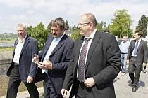 V rozhovoru ministr zemědělství Ivan Fuksa a  plumlovský starosta Adolf Sušeň