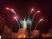 Silvestrovský ohňostroj v Prostějově 2018