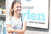 Sedmnáctiletá studentka střední školy polygrafické v Olomouci, Veronika Mikulášková z Prostějova