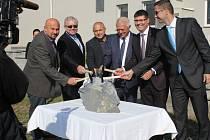 Slavnostní zahájení oprav nájezdu na R46 u Brodku u Prostějova