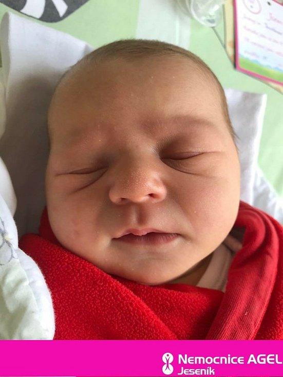 Melánie Andrýsková,Vrbno pod Pradědem, narozena 5. července 2020, míra 51 cm, váha 3750 g