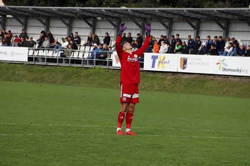 Prostějov prohrál ve 3. kole poháru doma s Bohemians 0:4. Hugo Jan Bačkovský