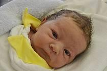 Oliver Navrátil, Vřesovice, narozen 24. ledna v Prostějově, míra 50 cm, váha 3000 g