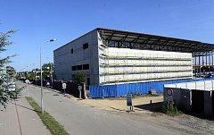 Stavba národního olympijského centra v Prostějově