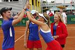 České tenistky ve finále MS porazily USA a získaly zlaté medaile.