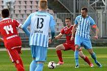 20. kolo Fotuna národní ligy mezi FC Zbrojovkou Brno (červená) a 1. SK Prostějovem