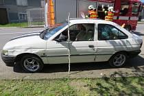 Nehoda při předjíždění v Hluchově