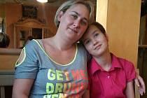Maminka Jolana s dcerou Pavlínkou