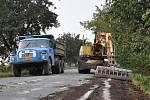 Oprava silnice mezi Výšovicemi a Němčicemi nad Hanou. Ilustrační foto