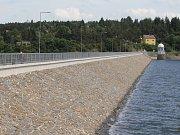 Opravená hráz plumlovské přehrady