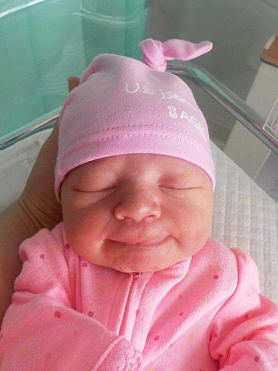 Elen Hladišová, Prostějov, narozena 15. dubna 2021 v Prostějově, míra 50 cm, váha 3750 g