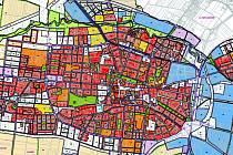 Návrh územního plánu města Prostějova - výřez centra
