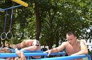Workoutové sportoviště na Kostelecké ulici v Prostějově slavilo jeden rok
