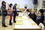 Druhé kolo prezidentských voleb v prostějovské Erbenově ulici