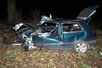Řidič havaroval u Olšan, prý se jen podíval na hodinky