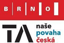 Logo města Brna a logotyp pořadu ČT. Díla grafičky Věry Marešové