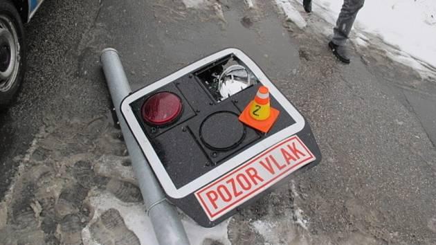 Nehoda na přejezdu v Olomoucké ulici