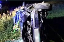 Tragická nehoda octavie u Bukové