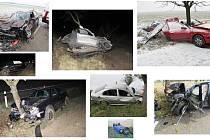 Silniční úsek mezi Vícovem a Ohrozimí je často místem dopravních nehod.