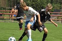 KP mladší žáci – 4. kolo (3. hrané): FK Spartak Kaplice (černé dresy) – TJ Jiskra Třeboň 2:4 (2:3).