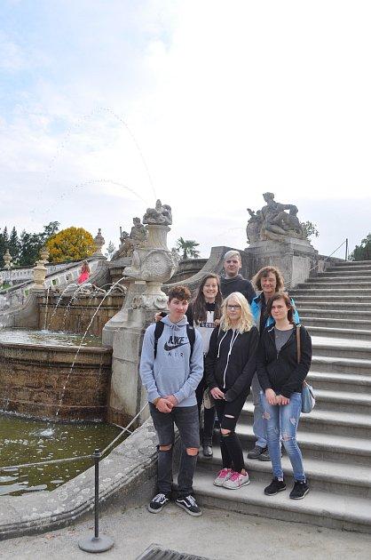 Bavorští studenti při pobytu vČeském Krumlově.