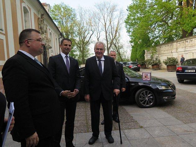 Prezident Miloš Zeman navštívil Fórum partnerských regionů Jihočeského kraje vČeském Krumlově.