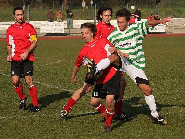 Fotbalové utkání A skupiny oblastní I. B třídy / FK Slavoj Český Krumlov - FC Vltava 1:1 (0:0).