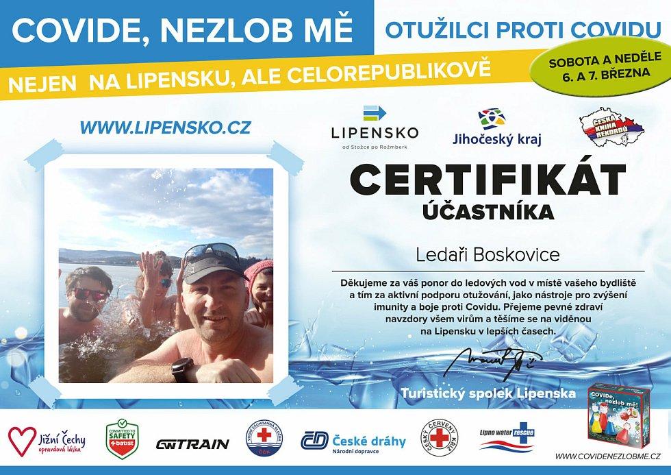Certifikát Ledaři Boskovice.