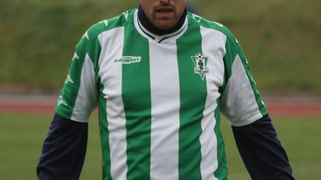 Rozdílovou vítěznou trefu v derby zaznamenal vyšebrodský špílmachr Aleš Jirkal (na snímku).