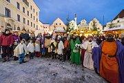 Tři králové ukončili Vánoce v Českém Krumlově.