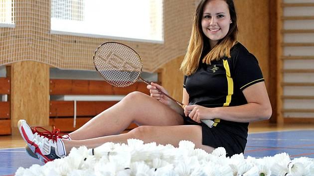Nadějná badmintonistka SKB Český Krumlov Sabina Milová.