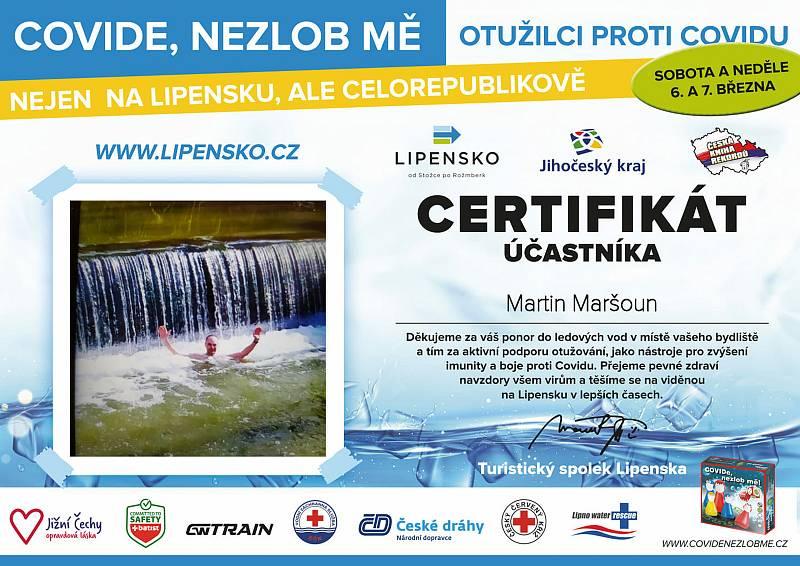 Certifikát Martina Maršouna.