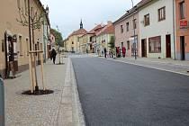 Linecká ulice v Kaplici.