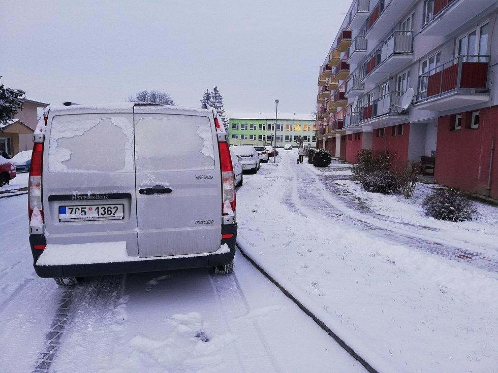 Bílo ve Velešíně.