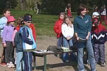Dětem přálo při českokrumlovských oslavách Dne Země počasí.