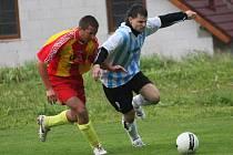 Fotbalové utkání A skupiny oblastní I. A třídy / FC Šumava Frymburk - Sokol Kamenný Újezd 0:4 (0:2).