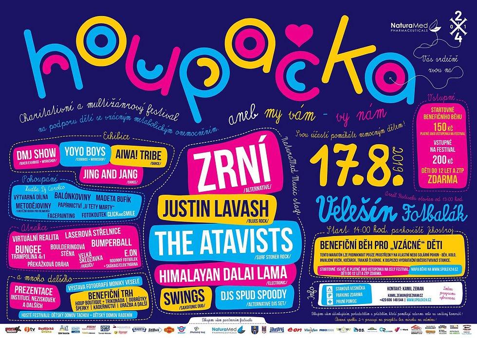 Program charitativního festivalu Houpačka 2019.