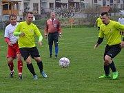 Okresní přebor – 13. kolo: Sokol Křemže (bílé dresy) – Sokol Přídolí 2:2 (0:2), na penalty 2:3.