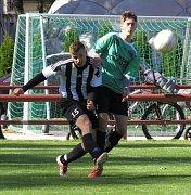 Select okresní soutěž muži - 6. kolo: FK Spartak Kaplice B (zelené dresy) - Sokol Benešov 10:0 (4