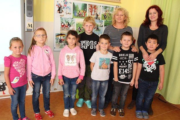 První třída Základní školy Loučovice.
